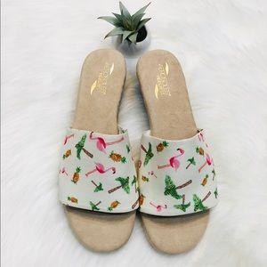 "Aerosoles ""Florida"" slip on sandals LIKE NEW 8.5"